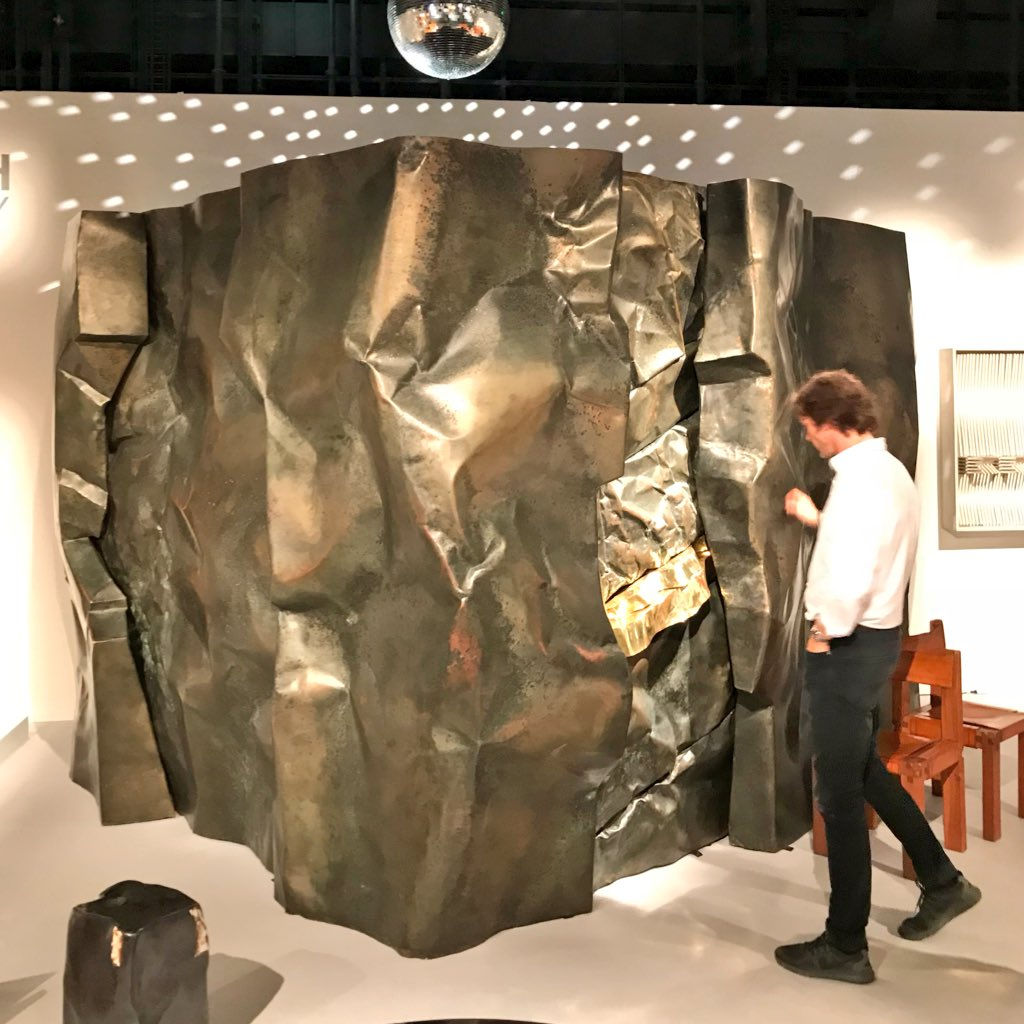 Disco inferno! Magen H Gallery lets buyers take the party home from #DesignMiamiBasel with the former entrance to legendary Monaco nightclub Jimmyz by designer Pierre Sabrtier. — IV <br>http://pic.twitter.com/Mh0sYuVSX0