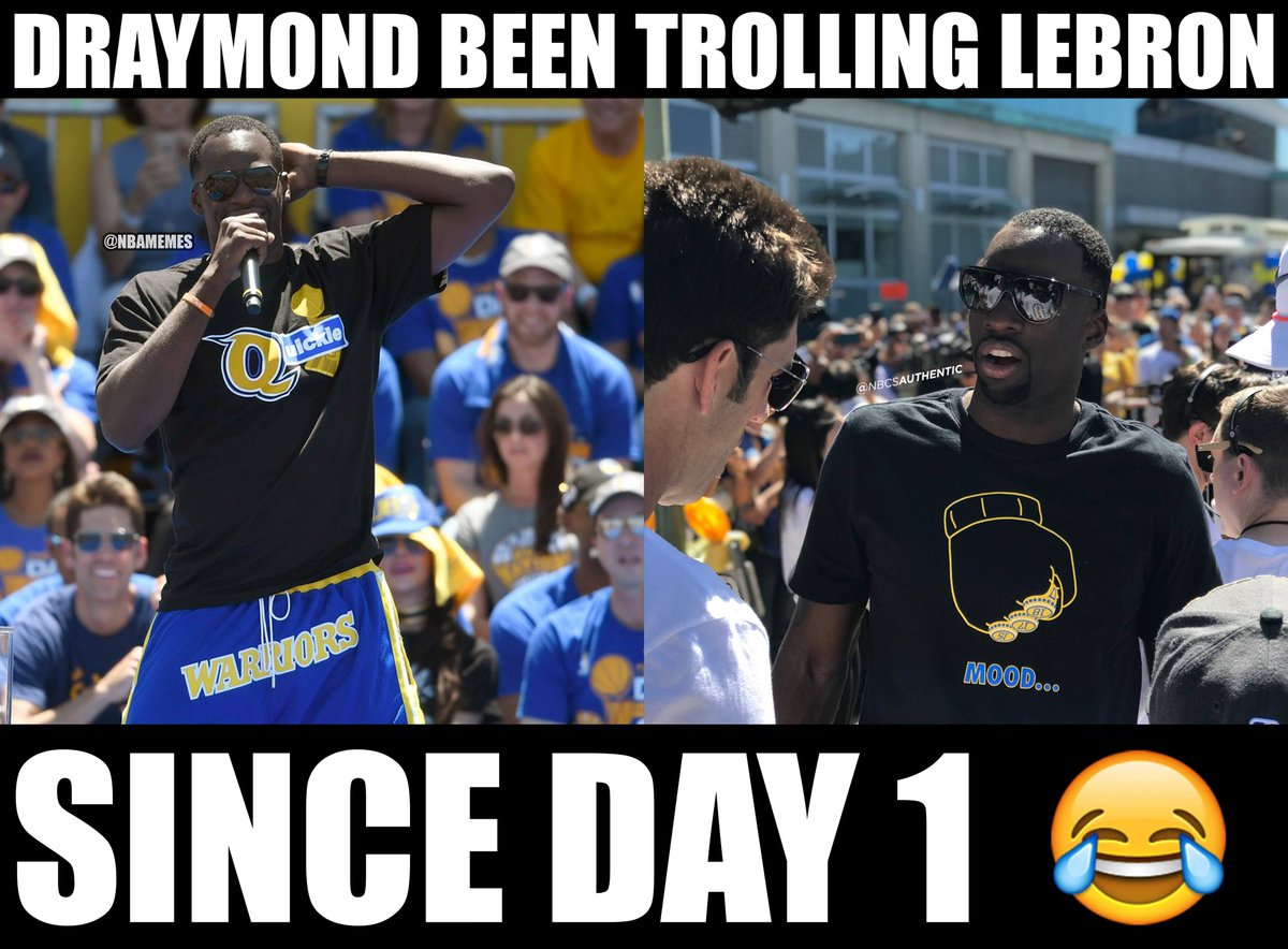 Nba memes on twitter draymond green is undefeated at the warriorsparade shirts are already flying off the shelves https t co r6m9ircd4c