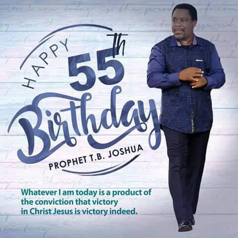 Happy Birthday Prophet T.B Joshua