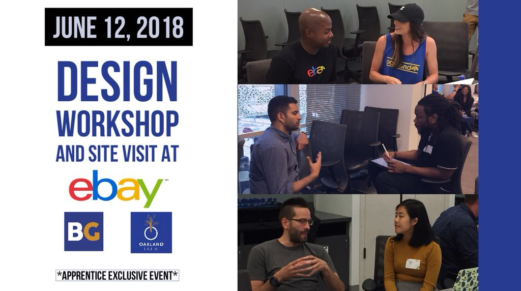 Such an amazing and inclusive team at #ebay! Mentoring 1 on 1 alongside product designers and engineers! Getting very close and real with the lifestyle of being a #designer or #engineer. Many Thanks!  #tshapedesign #oaklanddigital<br>http://pic.twitter.com/e3IQTVeEHJ &ndash; à StubHub