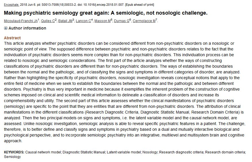 """Making psychiatric semiology great again""  https://www. ncbi.nlm.nih.gov/pubmed/2988578 4?dopt=Abstract   …  Make titles great again by banning this 2016 meme<br>http://pic.twitter.com/ZOv2Oo7yxH"