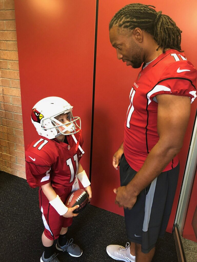 It was an honor hosting my friend Tennyson Erickson at the Cardinals facility the last two days. Thank you @MakeAWish @MakeAWishAZ & @espn for connecting us and featuring Tennyson in the #MyWish series next month!