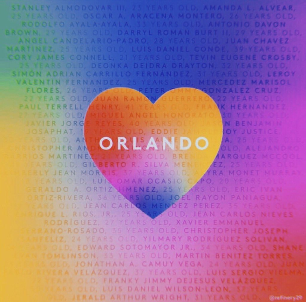 Love > Hate 🌈 We will not forget those we lost 2 years ago in Orlando 💛 #OrlandoUnited https://t.co/aah5fCRrXp