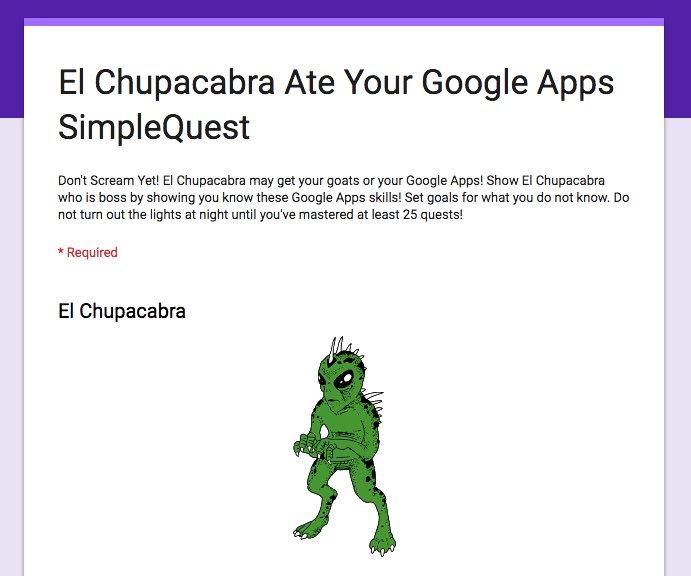 Google Apps SimpleQuest docs.google.com/forms/d/e/1FAI… #googleEDU