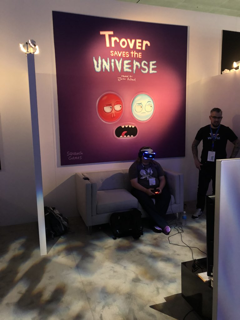 It's happening! @squanchgames @PlayStation #TroverSavesTheUniverse