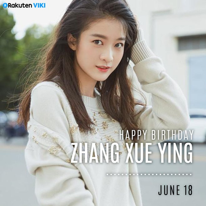 Happy Birthday to #ZhangXueYing! Catch up with her on #VikiTV: viki.com/celebrities/18…