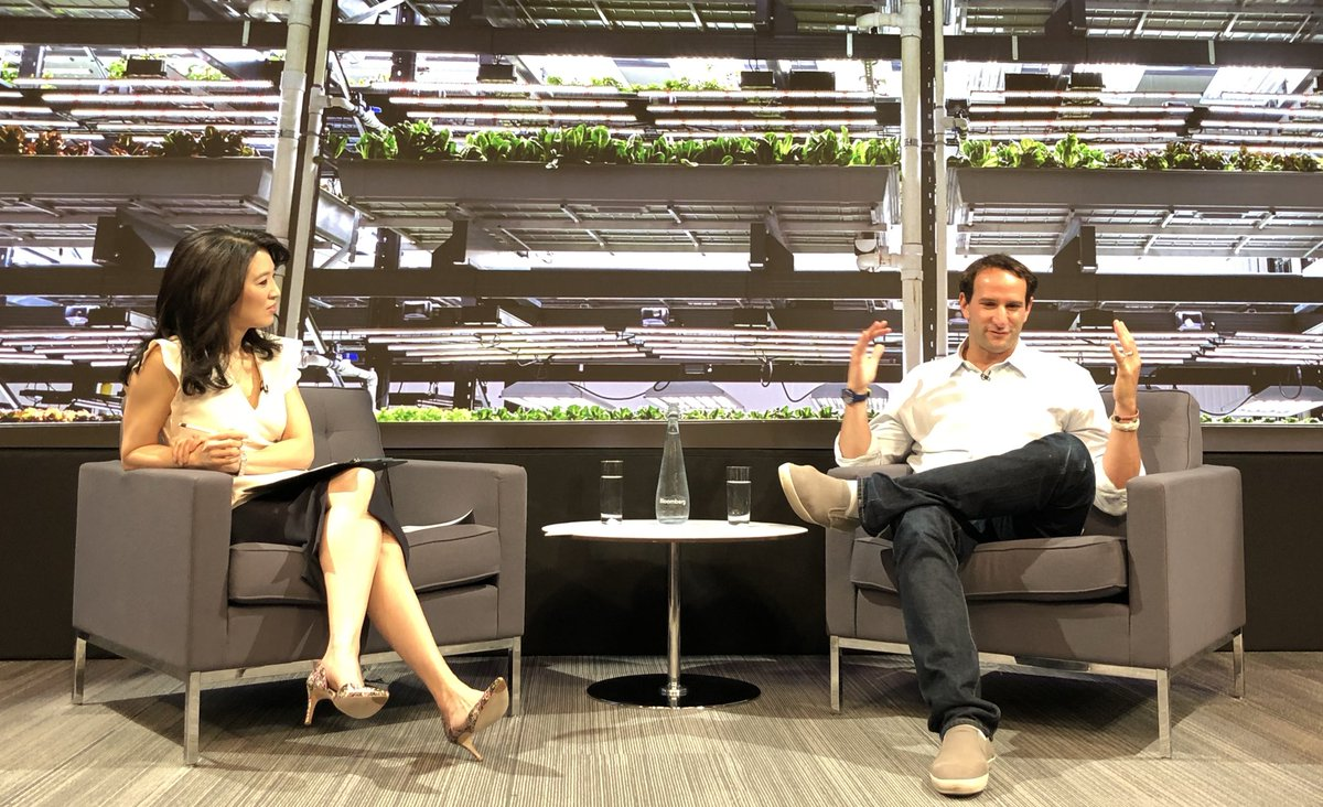 .@ifain says @BoweryFarming's food grows more than twice as fast as if it was grown in the field. Part of the magic is the Bowery OS, which makes real-time changes to the environment based on A.I. & machine learning. #CTechBBG