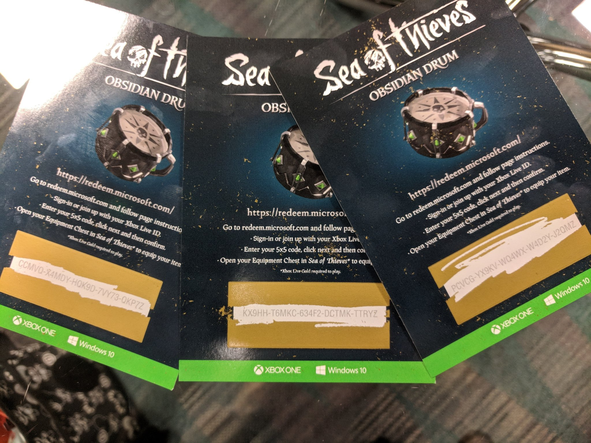 Obsidian Drum codes at E3 : Seaofthieves