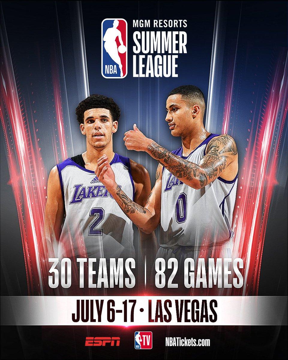 ESPN & NBA TV to bring fans all 82 games from @MGMResortsIntl @NBASummerLeague! Top two picks in 2018 @NBADraft set to meet on July 7 in Las Vegas 🏀: #NBASummer 📅: on.nba.com/2MjfQmF 🎟: NBATickets.com