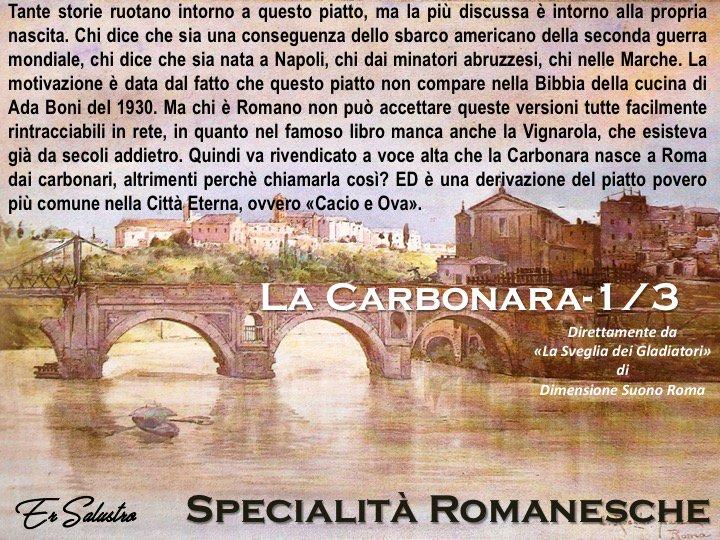 #Romeisus #romanesco #cucinaromana Uno de li piatti più contesi, soprattutto pè quello chariguarda la storia. Ada BBoni probbabbirmente sera distratta... questo è a tutti leffetti un piatto Romano da sempre, avoija a cerca daccaparasselo....