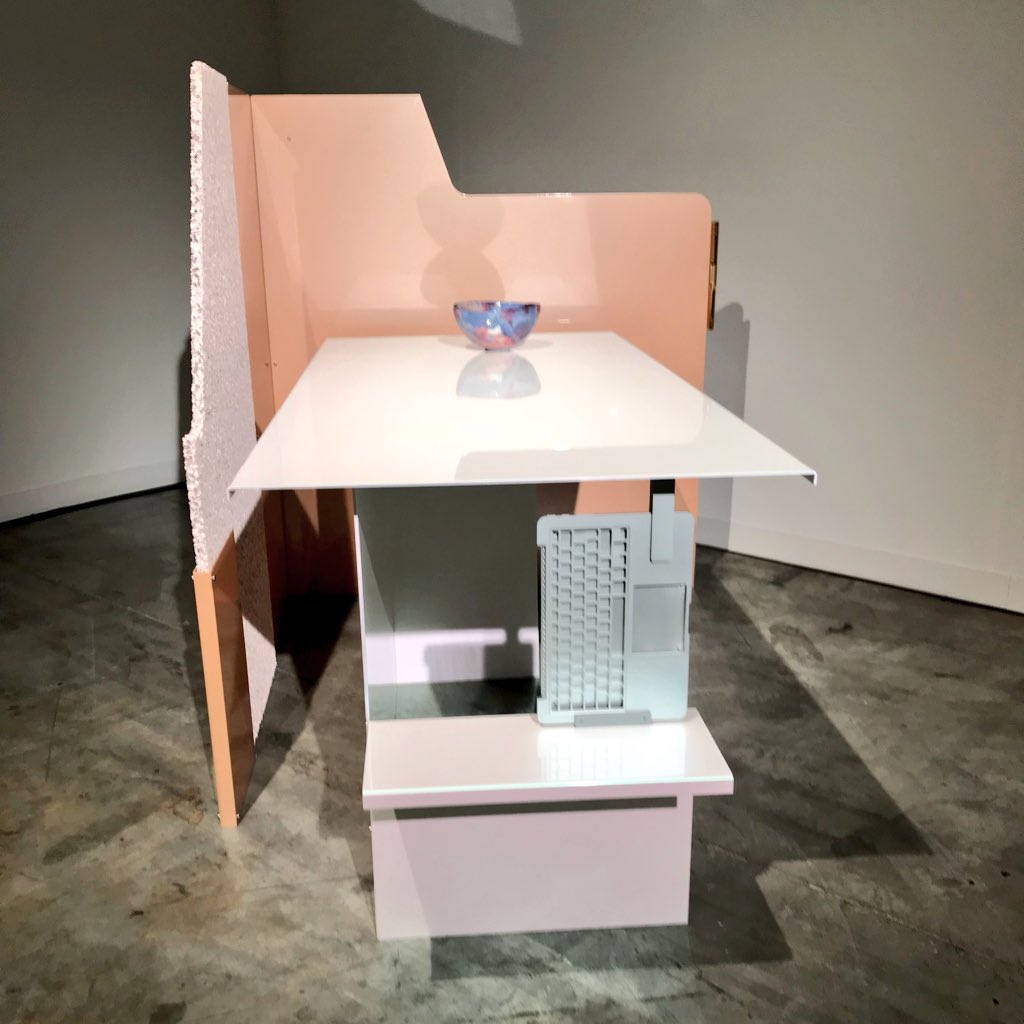 "A personal favorite at #DesignMiamiBasel: Formafantasma's ""Cubicle 2"" for Rome-based Giustini/Stagetti, PoMo with a digital-nostalgia twist — including computer keyboards embedded into the assemblage. — IV <br>http://pic.twitter.com/ynayZaIdlB"