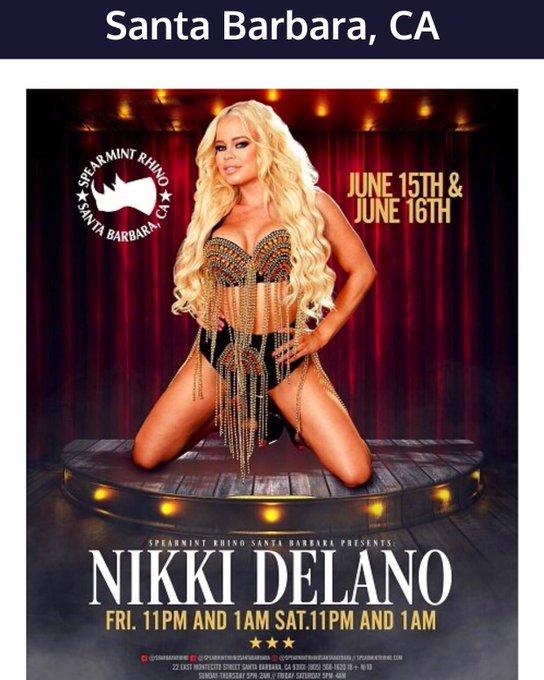 2 pic. Meet me this weekend at @rhinoclubs @SpearmintRhinoS in Santa Barbara for 2 nights June 15 & 16