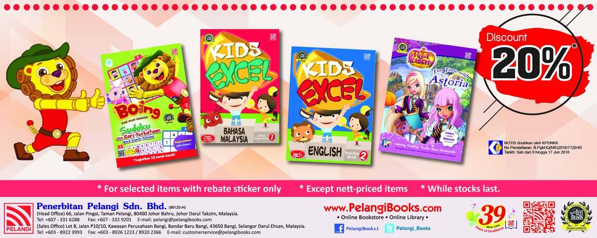 We are still in Bookfest @ Malaysia 2018. If you're heading to KL Convention Centre, make sure to purchase Pelangi books okay! #PopularBookFest #BookfestMalaysia2018
