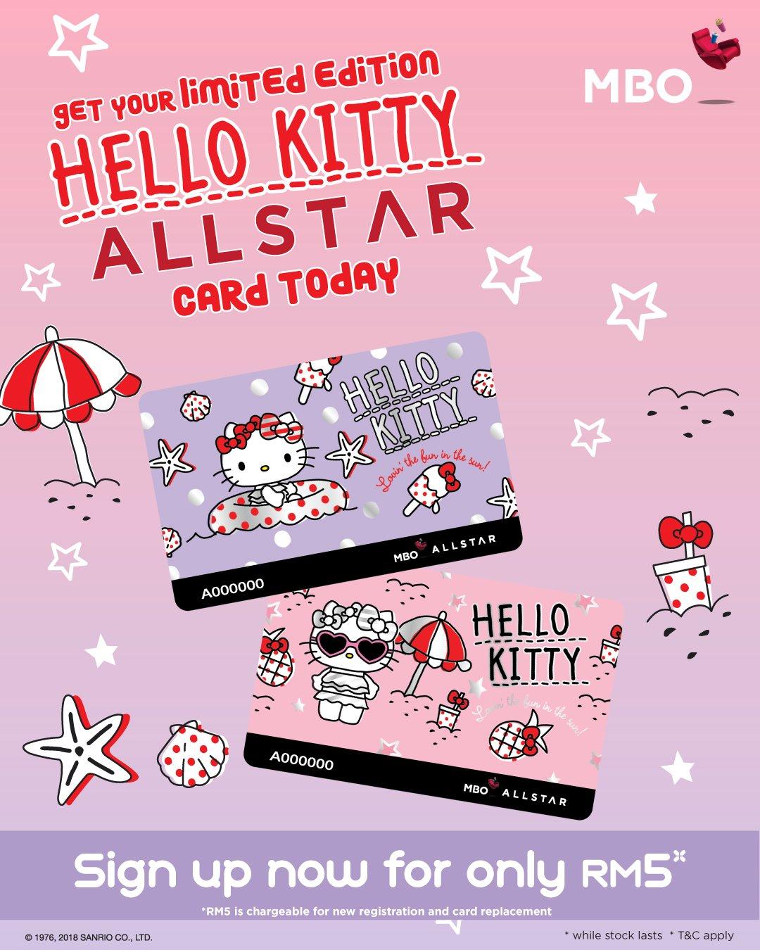 Mbo Cinemas On Twitter Limited Edition Hello Kitty Allstar Card