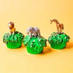 """59 Likes, 12 Comments - Party et Cie (@partyetcie) on Instagram: """"Roaring into Tuesday! We made jungle cupcakes with our  #merimeri Metallic Brights Cupcake Liners!…"""" This fantastic party idea was featured today on https://t.co/2n0L40LUCS! #partyideas #party #birthdayparty #ho…"""