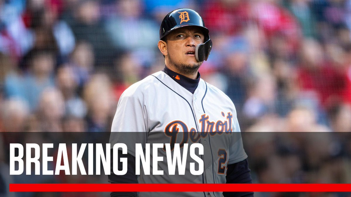 Breaking: Miguel Cabrera will miss the remainder of the season with a ruptured biceps tendon.