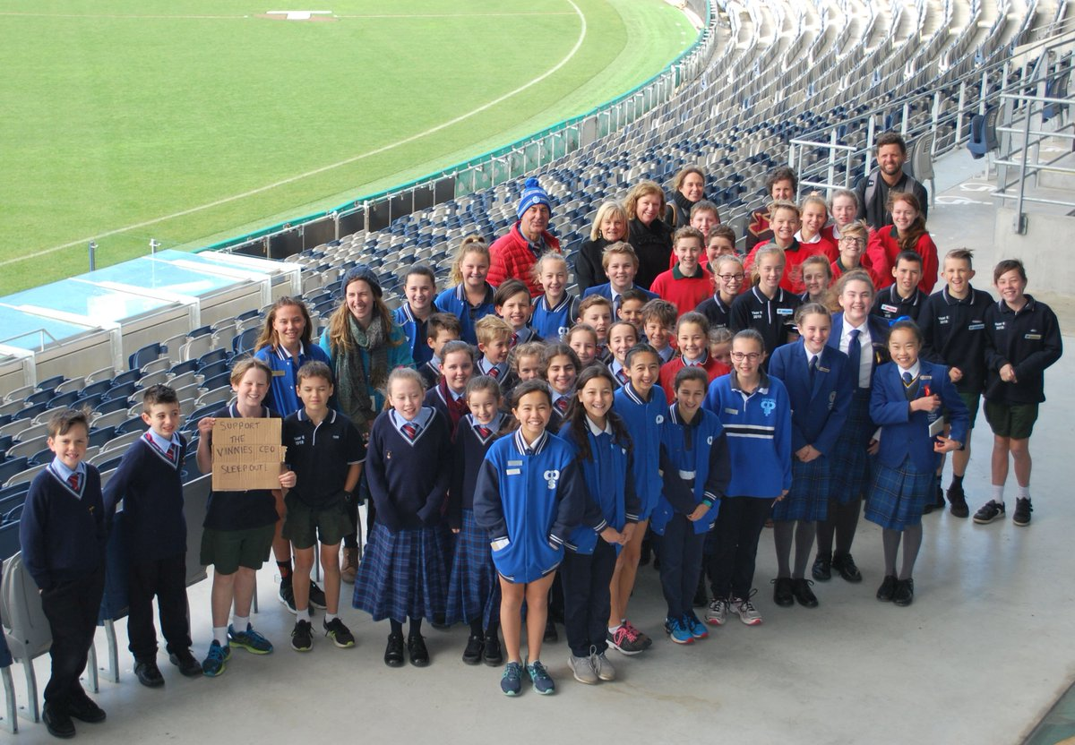 Kardinia Park On Twitter In The Lead Up To Vinnies Ceo Sleepout It Was Great To Have 44 Student Leaders From Christian College Nazareth South Geelong Chilwell Geelong Lutheran Primary Schools