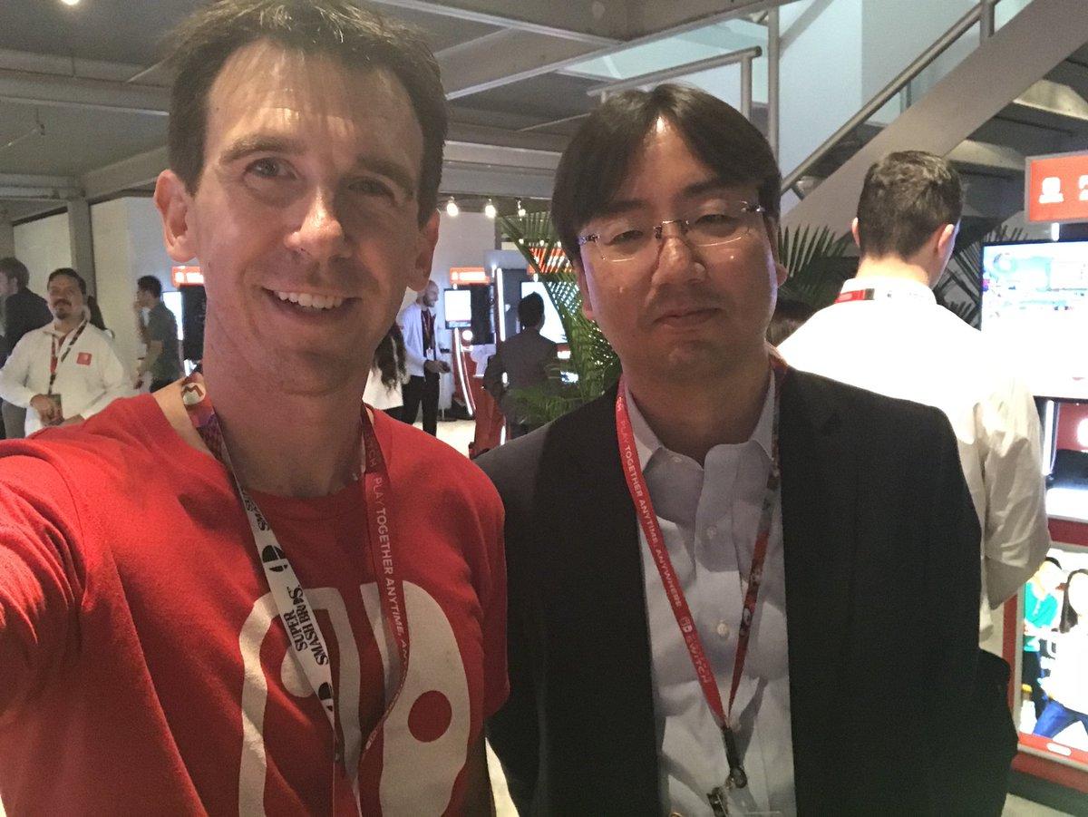 Nintendo of Japan President, Shuntaro Furukawa, with Paul Gale Network at E3 2018