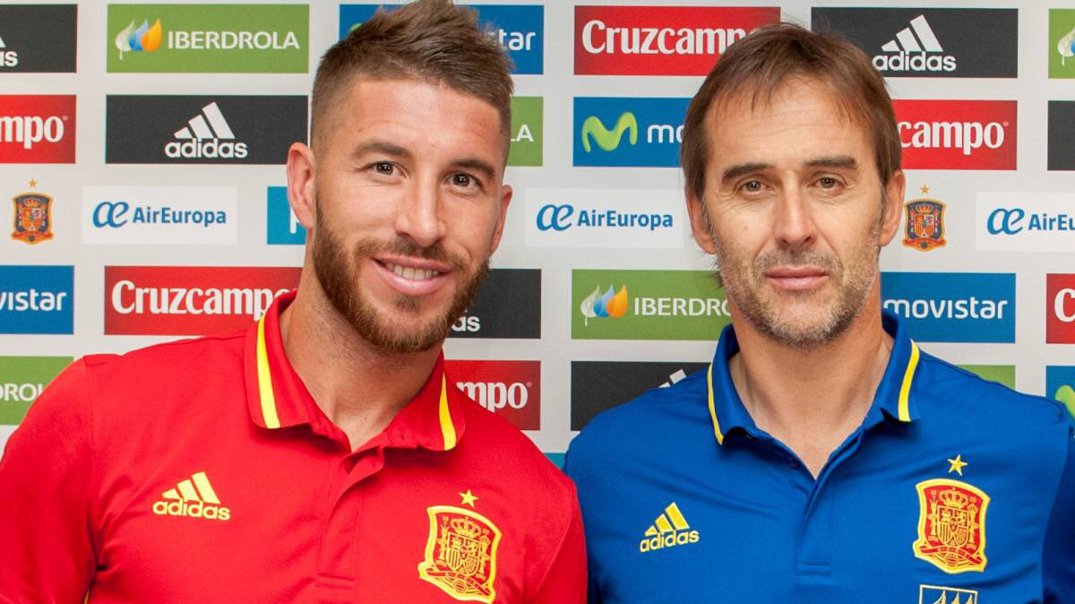 Image result for lopetegui  and ramos