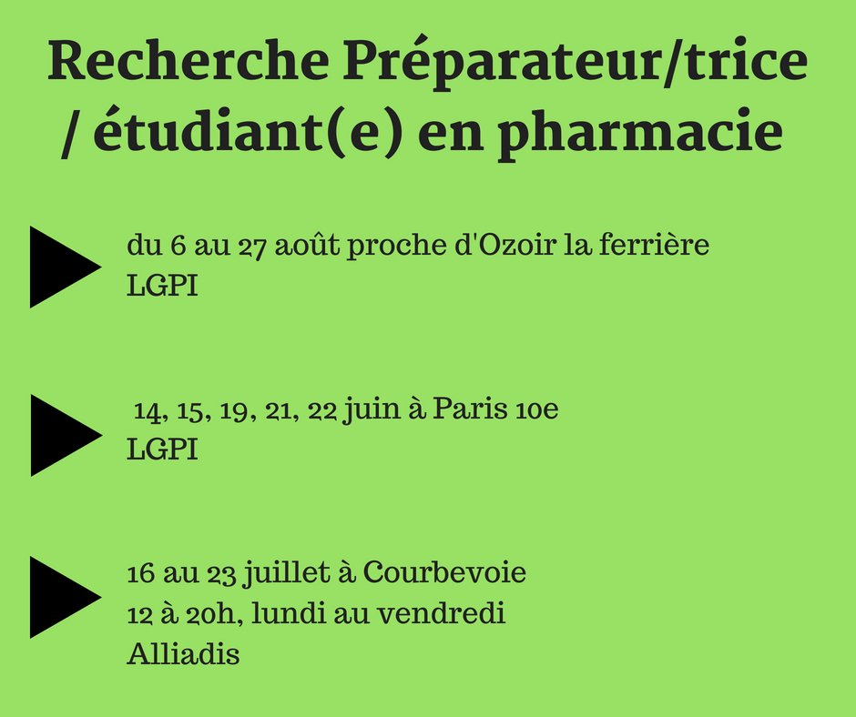 3s Sante Interim Pharmacie On Twitter Urgent On Recherche