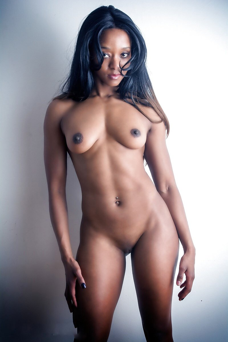 Hot light skinned black chick nude