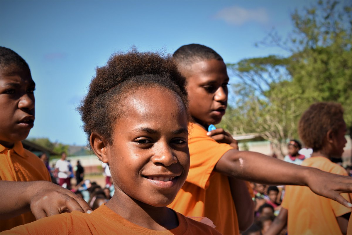 New Erima Primary School students in Port Moresby enjoy a sports festival through a Just Play programme aimed at reducing vulnerabilities and addressing social issues affecting young people.