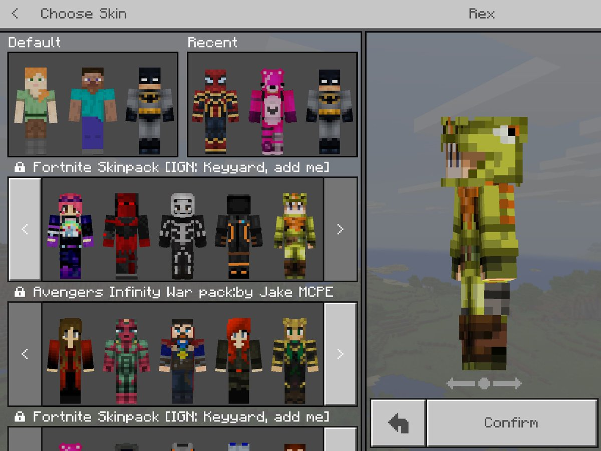 minecraft avengers skin pack download