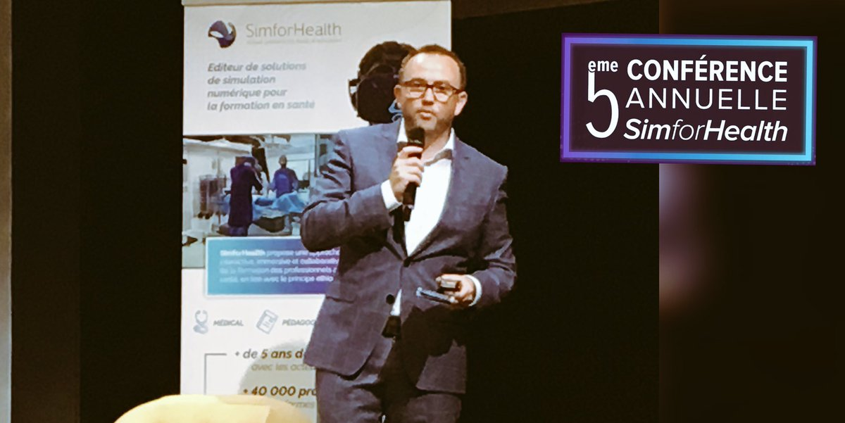#SFHConf2018 l Introduction #SimforHealth @joinstationF par @jeromeleleu @SimforHealth +500 inscrits  Time for #VR & #AR in #HealthCare #hcsmeufr<br>http://pic.twitter.com/AtZpqbqKiC