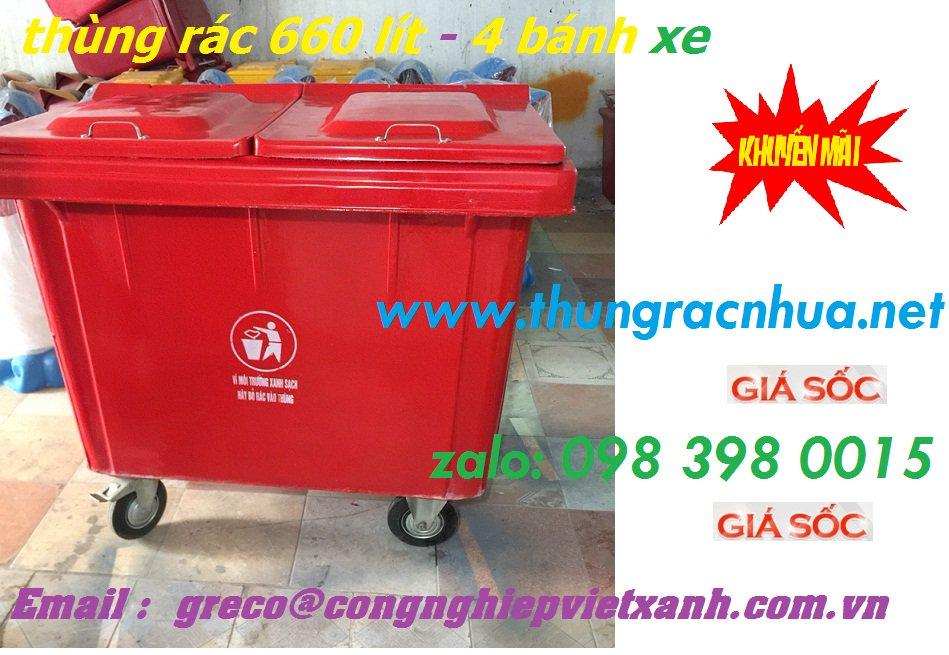 thung rac 660 - 3banh