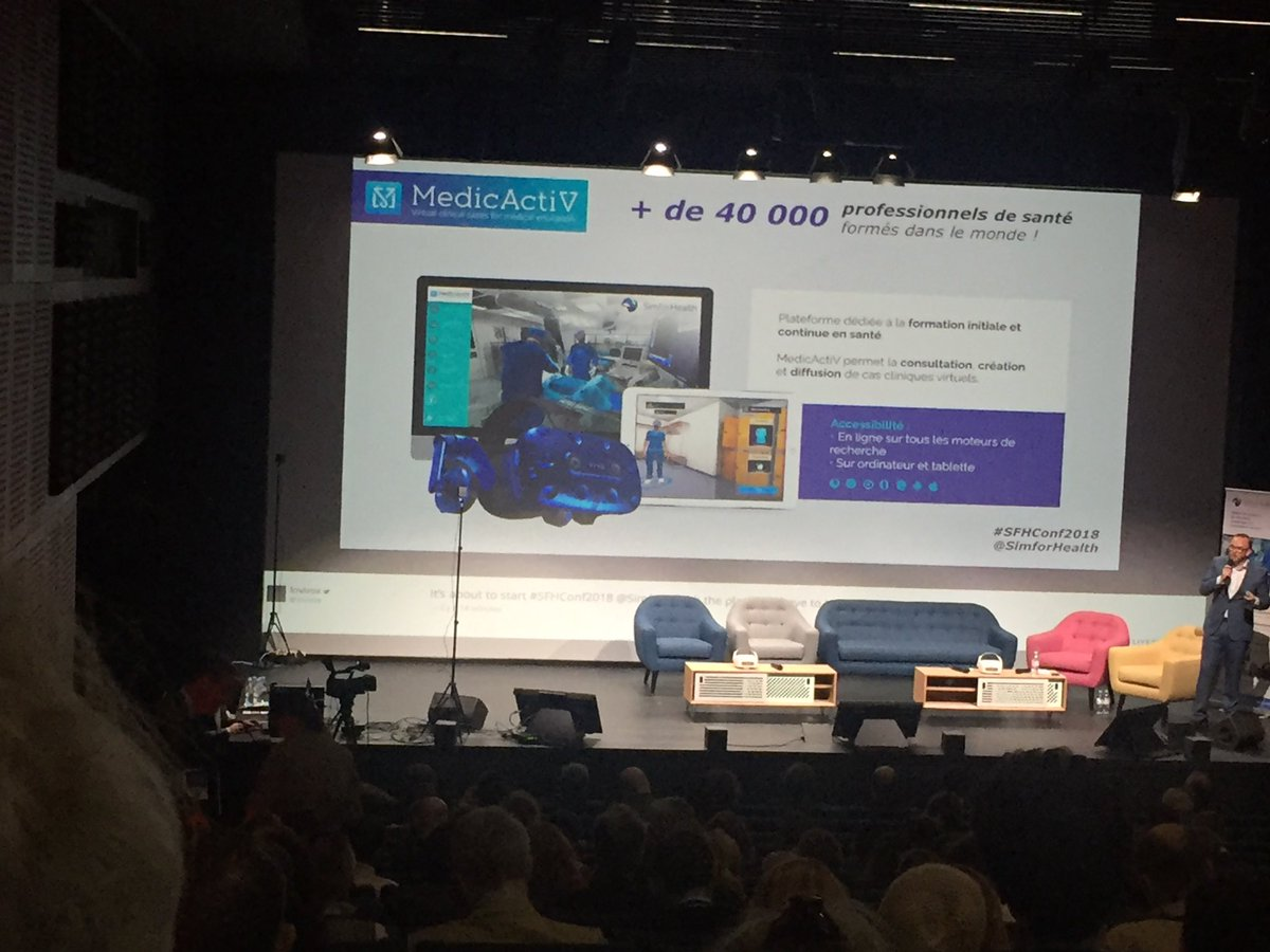 RT @SKhazzari: RT @health20Paris: #SFHConf2018 news from @simforhealth Many prizes and partnerships with prestigious institutions; #vr programs where teacher and student are in the headset together; and a store to purchase and or create cases #hcsmeufr #…<br>http://pic.twitter.com/z1rzEW9B9G