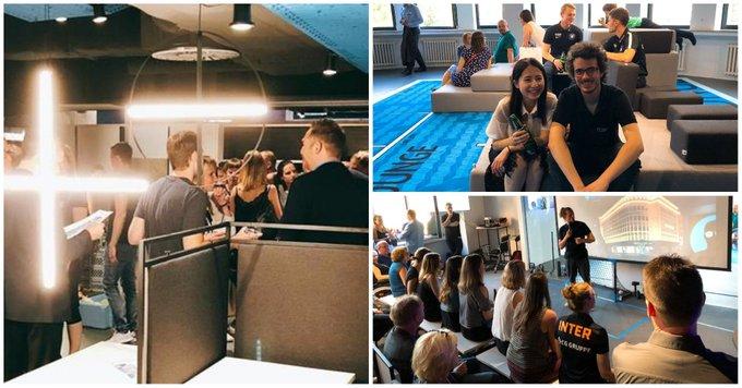 SimpliOffice: Grand Opening in #Leipzig<br><br>Modernste Bürofläche mit Virtual Reality Raum, Table-Connect-Tischen und Sportbereich. Unsere Logistikexperten im Team Leipzig freuen sich auf innovatives und kreatives #Coworking im Merkurhaus.<br><br><br>Fotos: SimpliOffice t.co/RaaVNd5Unh