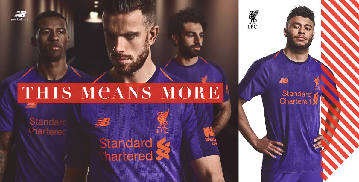 official photos 9eb08 6d98c NEW !!!! @LFC @NewBalanceUK Liverpool Away Kit now available ...