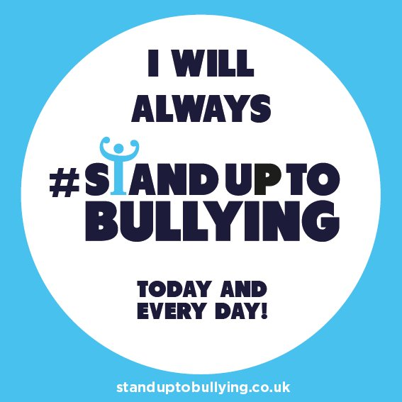 Retweeted NAHT (@NAHTnews): Today the nation is coming together to pledge to #StandUpToBullying. Find out more at Join in and share how you are standing up to bullying up in five words – @AntiBullyingPro Photo