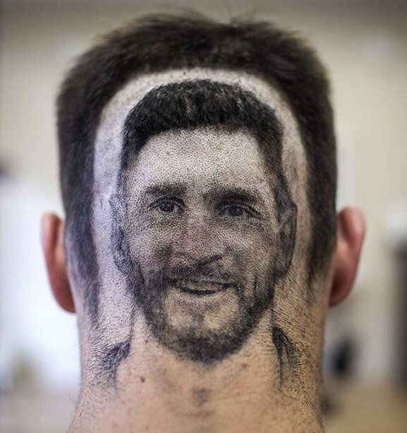Messi Hair #WorldCup