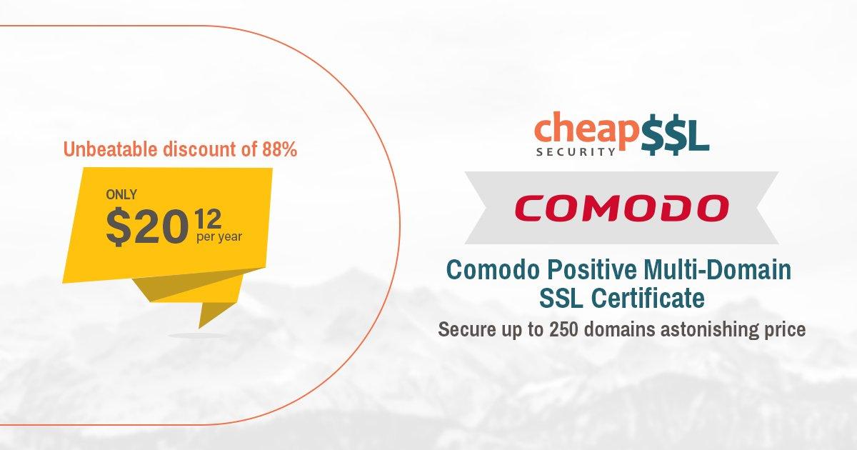 Cheapsslsecurity On Twitter Comodo Positivessl Multi Domain