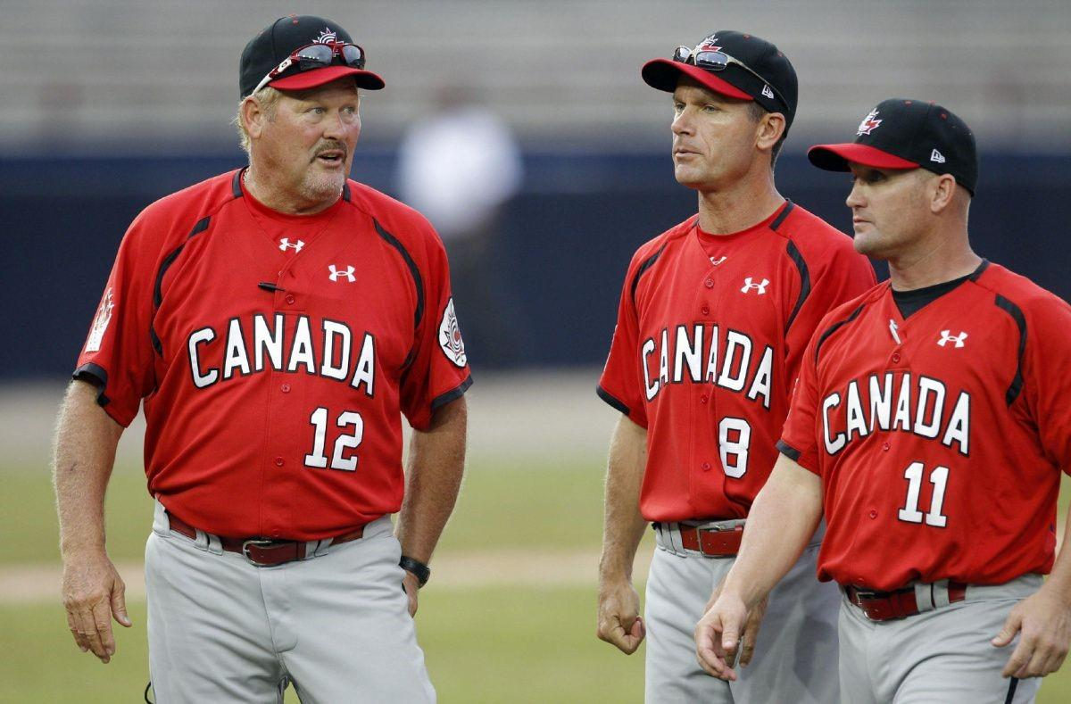 Hey @BlueJays fans, join is in wishing a happy birthday to 1985 All-Star Ernie Whitt! After 15 seasons as a big league backstop, Whitt (left) managed Team Canada to two Gold Medals in the Pan American Games and was inducted into the @CDNBaseballHOF in 2009.