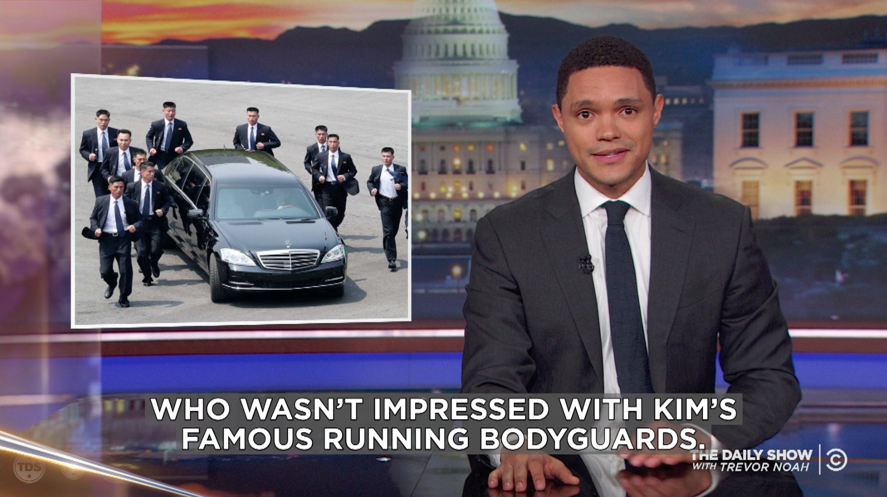 .@TheDailyShow looks into what it takes to be one of Kim Jong-un's famous running bodyguards. https://t.co/oaek0ZsFyx