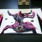 Image for the Tweet beginning: リクエストから、色鉛筆でガルマッゾ描きました。 #色鉛筆画  #二次創作 #ドラクエ  #すこしでもいいなと思ったらRT
