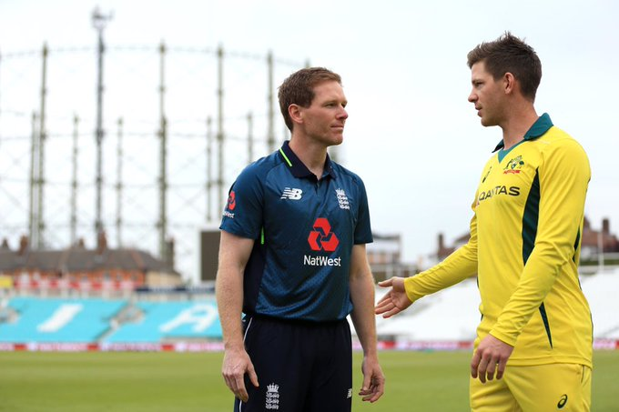 As well as handshakes being exchanged before play at the Oval there will also be no formal toss. Instead the decision whether to bat or bowl will be made following a game of sand paper scissors. #ENGvAUS Photo
