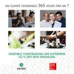 Image for the Tweet beginning: #GREATPLACETOWORK // Astek a participé
