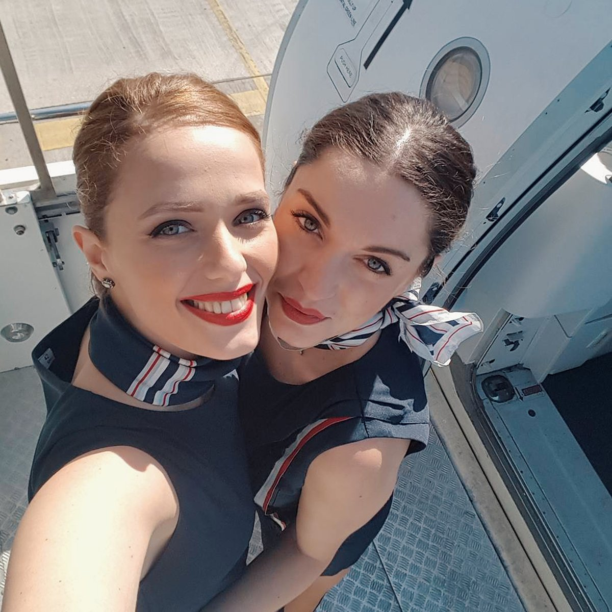 "Aegean Airlines on Twitter: ""Smiley crew ready to welcome you on ..."