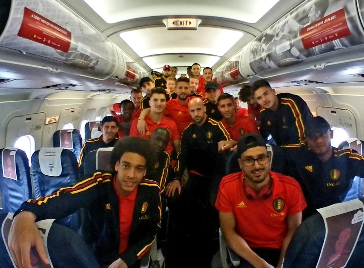 Ready for take off 🇧🇪✈️🇷🇺 #REDTOGETHER #WorldCup