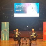 """What a great night listening to @MonashBDI's @jcarrollmonash in conversation with one of his """"personal scientific heroes"""" @embl Director General Prof Iain Mattaj. #AusSci"""