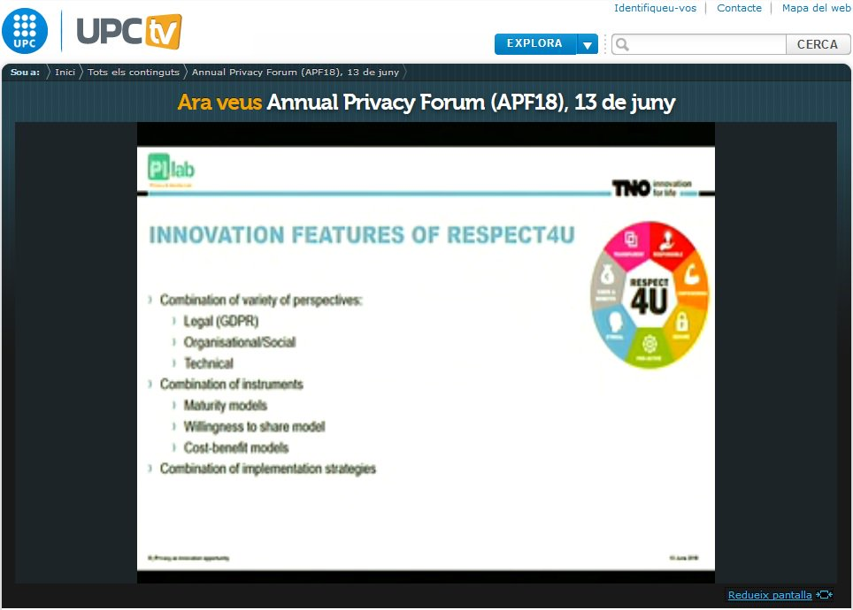 Cit Upc On Twitter Annual Privacy Forum Organized By La Upc