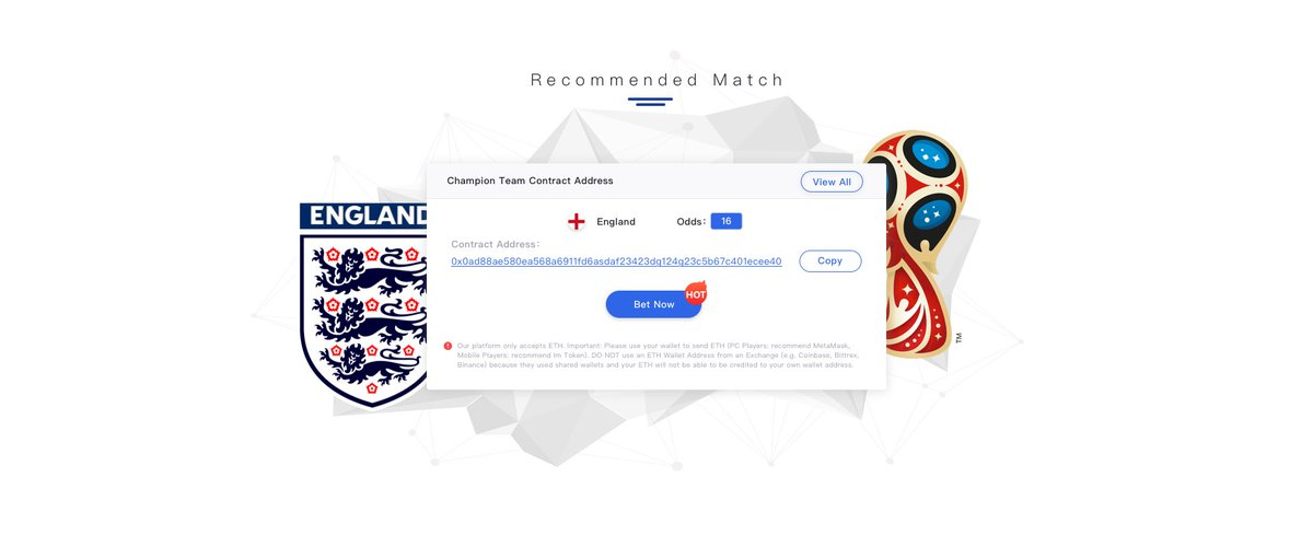 Which team will win the 2018 @FIFAWorldCup ? @England 🏴 - Will they or wont they Get 1 FREE bitcoin when England wins the World Cup, only at contractbet.com #England #ETH #Cryptobetting #sportsbetting #BTC #ETHEREUM #bet #bitcoin #worldcup