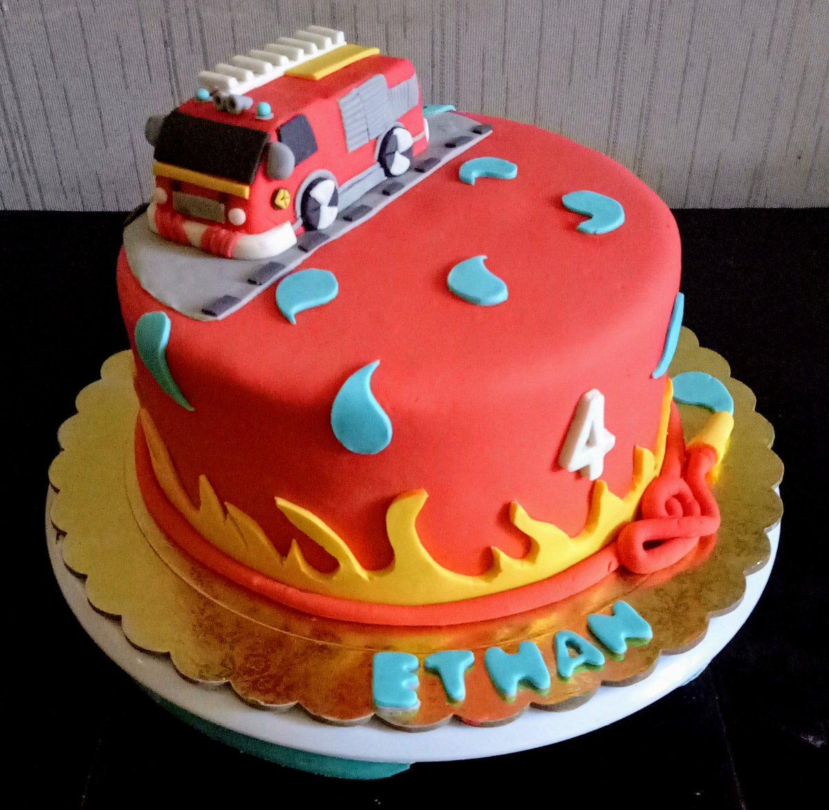 Tremendous Lynnton Bakers On Twitter Fire Truck Cake Firetruckcake Funny Birthday Cards Online Overcheapnameinfo