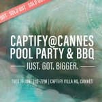 **GUEST LIST NOW CLOSED** Yet again @Captify's Annual Pool Party & BBQ has completely sold out. Thank you to those who have registered, we'll see you poolside!! #CaptifyatCannes #canneslions  #canneslions2018