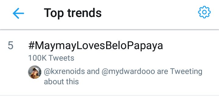 #MaymayLovesBeloPapaya is trending FIFTH spot on Tailored Trends with 100K tweets! Maraming salamat for all your efforts! Thank you, @Belo_Essentials!  @maymayentrata07<br>http://pic.twitter.com/yH0HHlg5OS