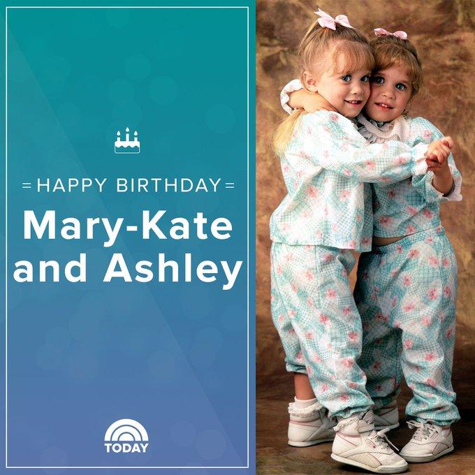 Happy birthday, Mary Kate and Ashley Olsen!