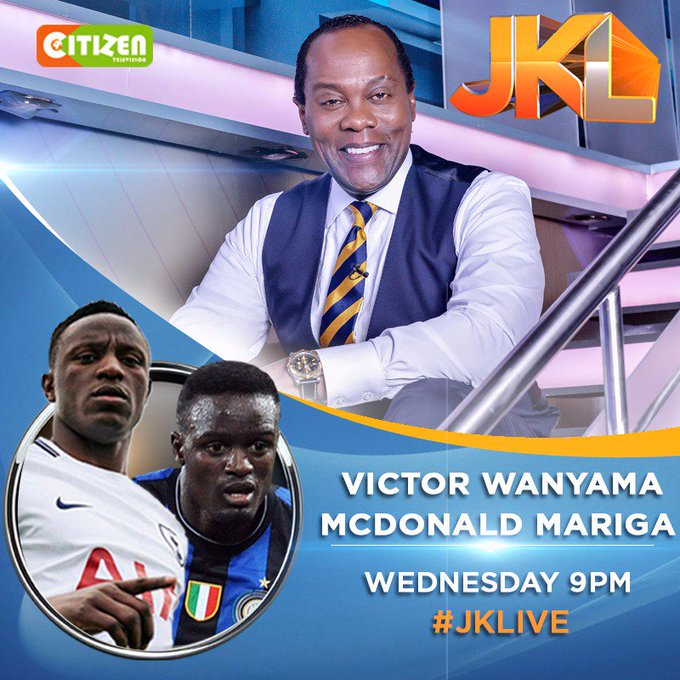 Tonight we get sporty with the baller brothers @VictorWanyama & McDonald Mariga on #JKLive hosted by @KoinangeJeff . Tell a friend to tell a friend who knows a friend! Photo